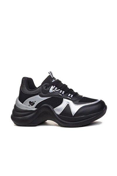 Twingo Kadın Siyah Gümüş Zenne Spor Ayakkabı 601
