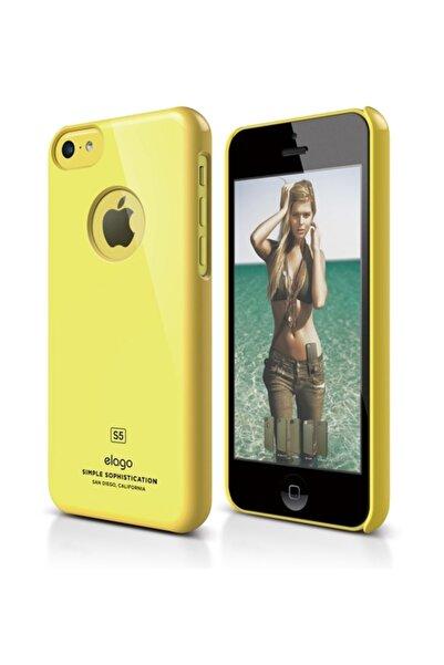 Elago iPhone 5C Slim Fit Series Sarı Rubber Kılıf