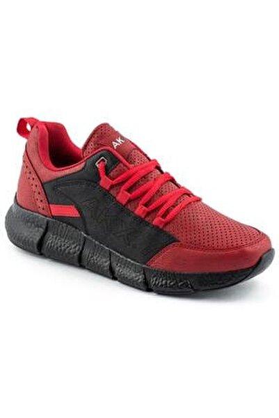 021 Kırmızı Siyah Erkek Spor Ayakkabı