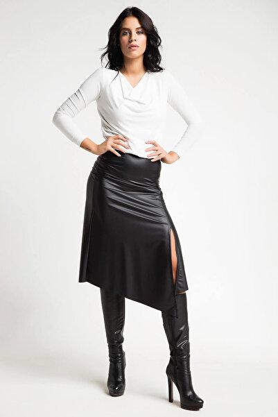 Laranor Kadın Siyah Deri Etek 14L4107