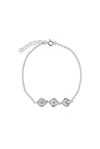Coquet Accessories Kadın Baget Karışık Gümüş Bileklik 19G9U08C1778