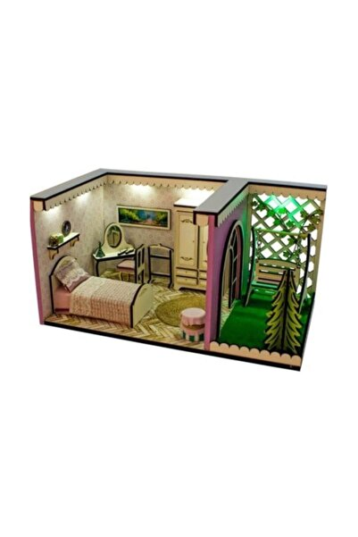Hande's House Ahşap Gece Lambası Yatak Odası