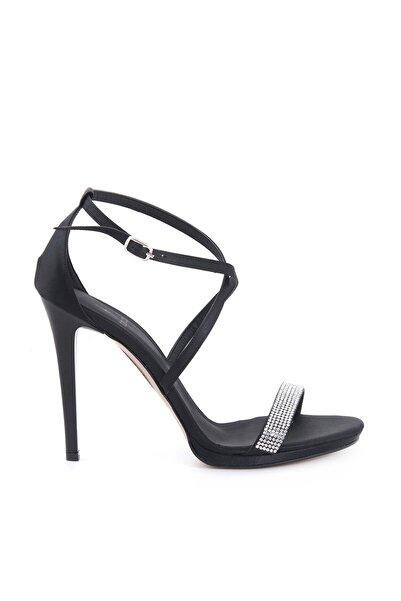 Tanca Sıyah Saten Kadın Klasik Topuklu Ayakkabı  161Tck456 617