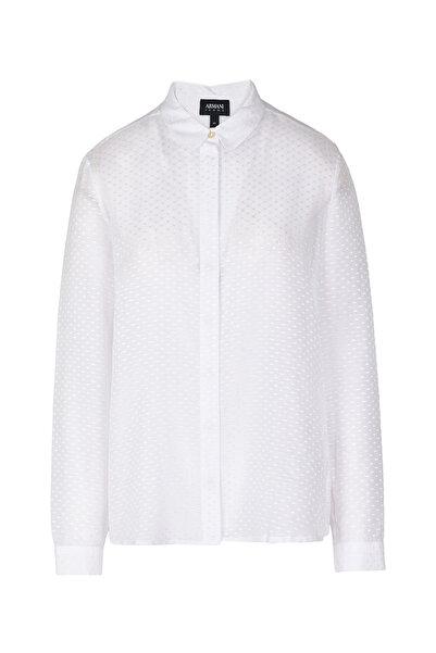Armani Jeans Kadın Beyaz Gömlek 3Y5C425Nzpz