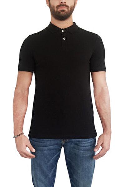 Erkek Siyah T-Shirt POLO-S