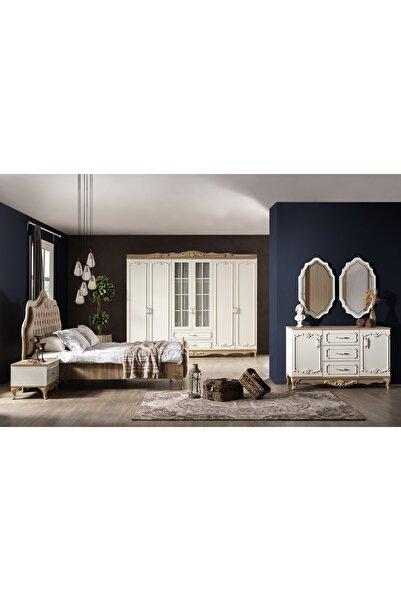 Weltew Home Rustik Bazalı Ve Karyolalı Yatak Odası Takımı