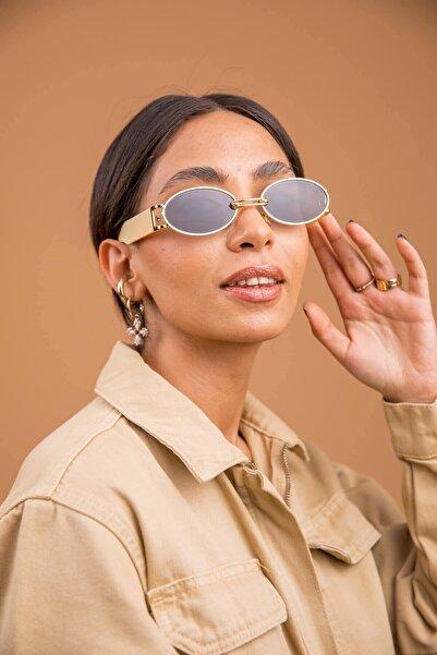 Bilge Karga Kadın Altın Güneş Gözlüğü