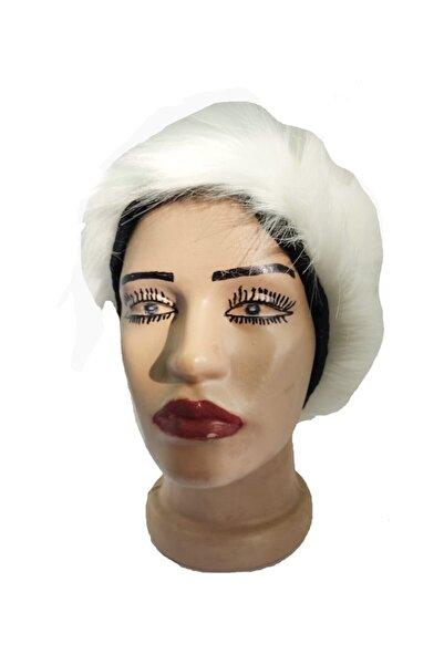 EUROMODA Beyaz Kürklü Kalpak Şapka
