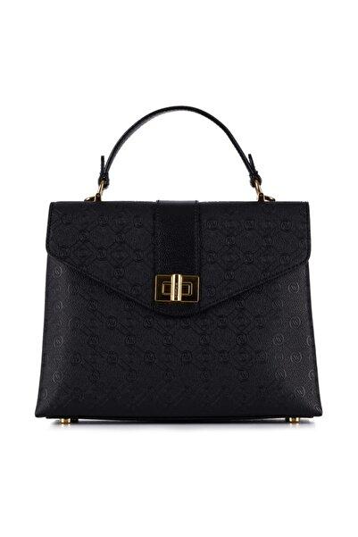 Vakko Kadın Siyah Kapaklı Çanta