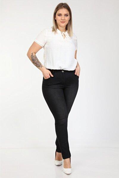 Era Lisa Yüksek Bel Full Likralı Tam Boy Büyük Beden Jeans Pantolon