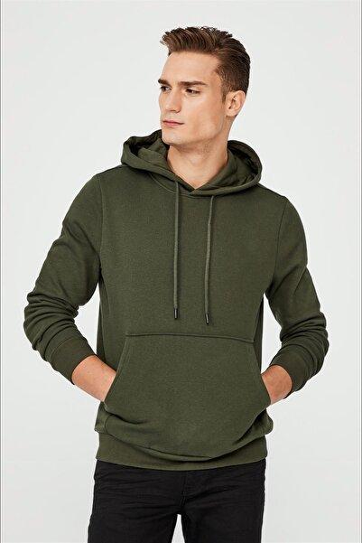 Avva Kapüşonlu Yaka Düz Sweatshirt