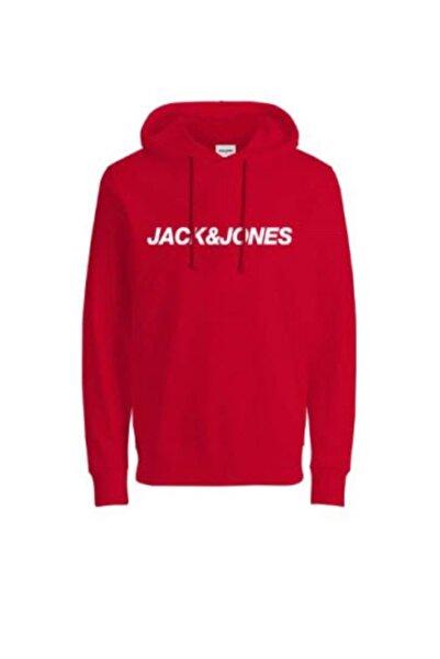 Jack & Jones JCOVIBE SWEAT HOOD KA Kırmızı Erkek Sweatshirt 101016189