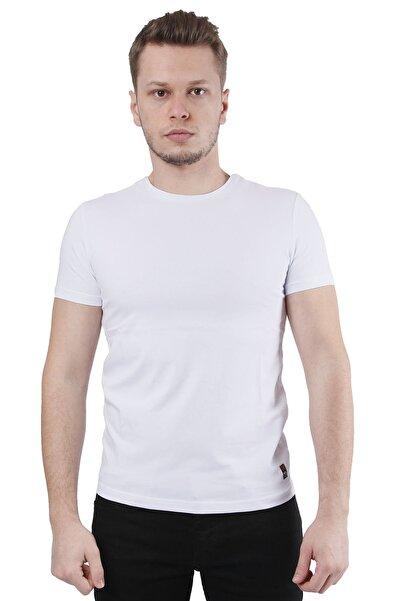 Canelia Beyaz Erkek Slimfit T-shirt