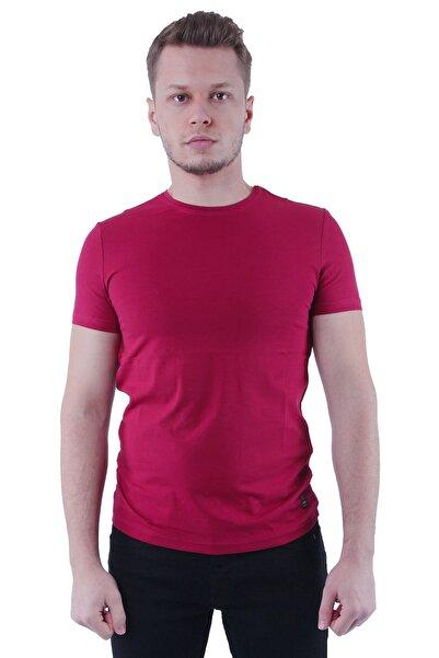 Canelia Bordo Erkek Slimfit T-shirt
