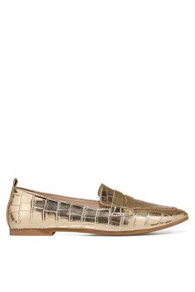 Nine West LEFUR2 Altın Kadın Loafer Ayakkabı 101028722