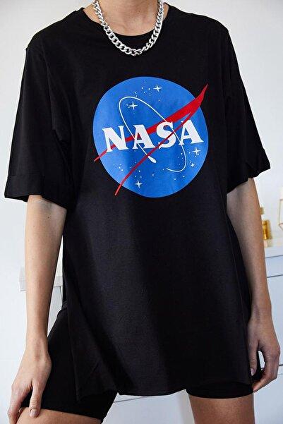 Eka 0967-7004 Nasa Baskılı Yanı Yırtmaçlı T-shirt