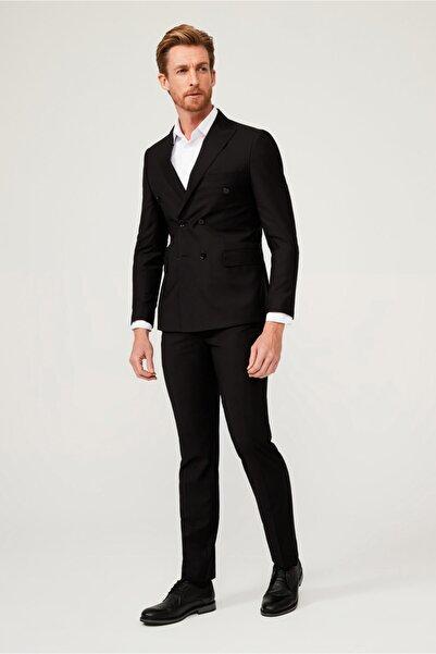 Kiğılı Slim Fit Kruvaze Takım Elbise