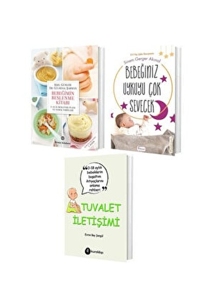 Bebek Eğitim Seti ( Bebeğimin Beslenme Kitabı - Bebeğiniz Uykuyu Çok Sevecek - Tuvalet Iletişimi )