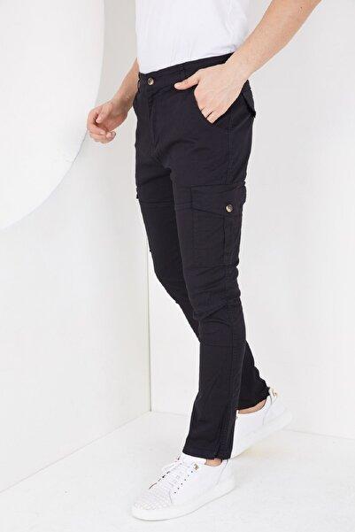 Rad jeans Erkek Askeri Kargo Pantolon Siyah