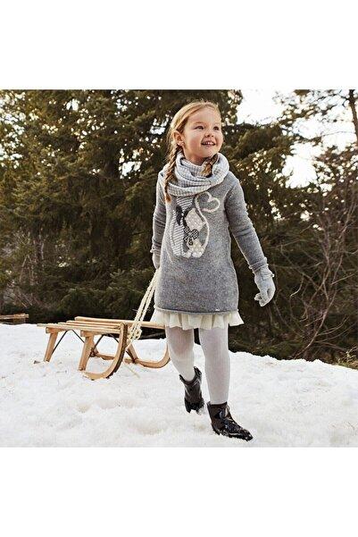 MAYORAL Kız Çocuk Gri Örme Elbise