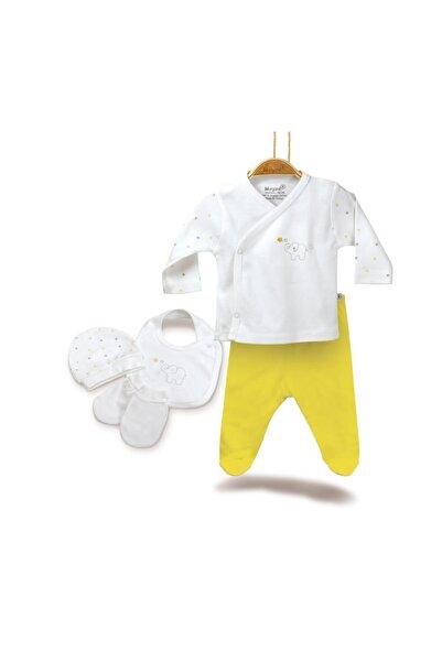 Bibaby Baby Elephant 5 Parça Zıbın Seti Hastane Çıkışı 62142 Ekru Sarı