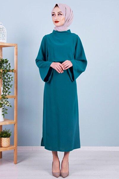 BUTİK C Kadın Zümrüt Kalem Elbise