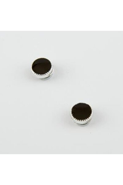 Peyless Unisex Çocuk Siyah Mıknatıslı Küpe 0,8 cm