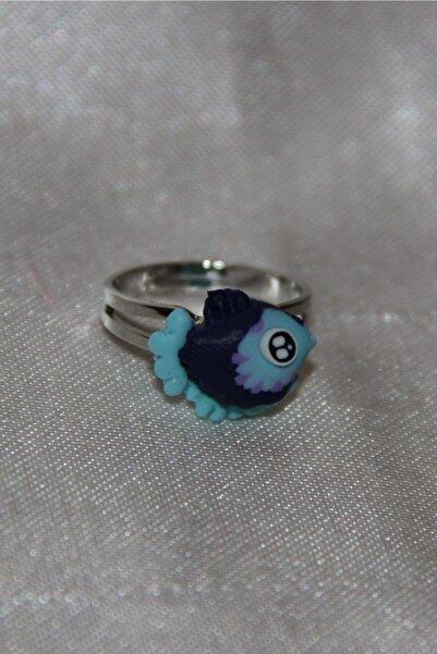 Wilpiero Çocuk Mavi Ve Lacivert Balık Figürlü Ayarlanabilir Yüzük