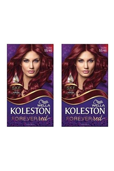 Koleston Wella Kit Boya 55-46 Kızıl Büyü 2 Adet