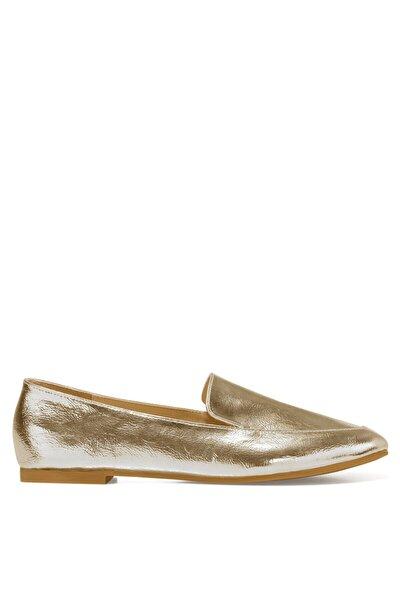 Nine West LEFUR Altın Kadın Loafer Ayakkabı 101028717