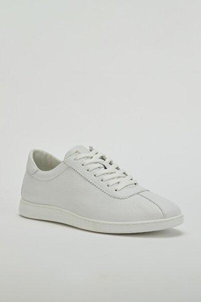 MUGGO Erkek Beyaz Hakiki Deri Sneaker Ayakkabı Mgversay03