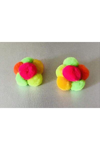 Mima Çok Renkli Ponponlu Lastikli Bebek Tokası