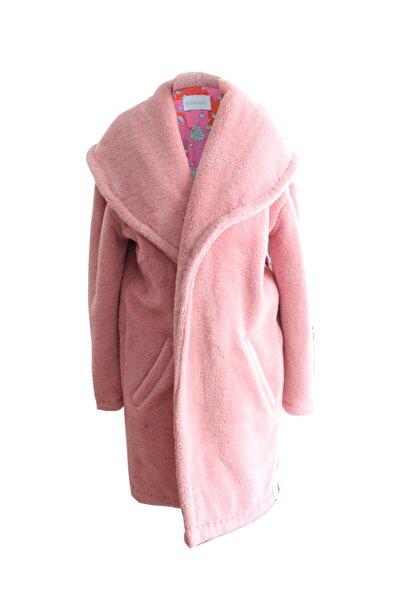 Bashaques Kadın Pembe Sırtı Nakış Detaylı Pelüş Palto