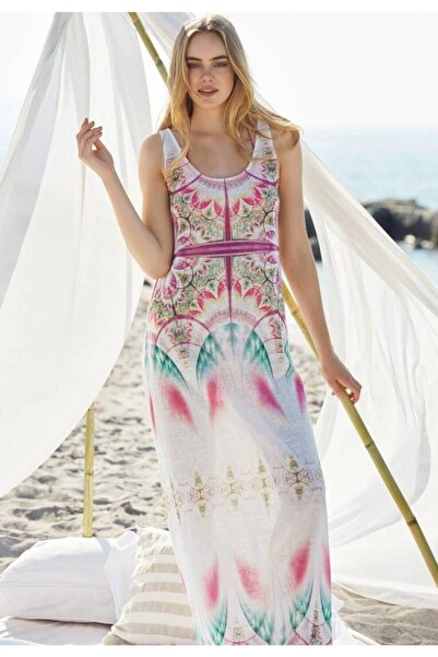 Penyemood Kadın Beyaz Plaj Elbisesi