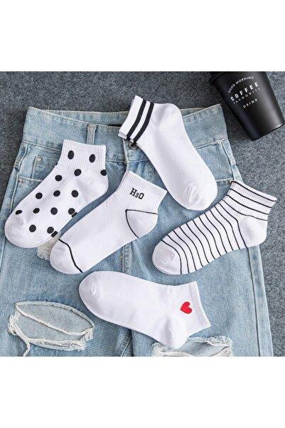 BGK Kadın Desenli Patik Çorap 5'li