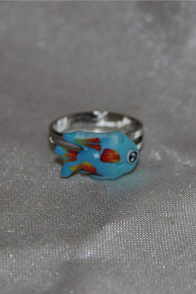 Wilpiero Çocuk Mavi Balık Figürlü Ayarlanabilir Yüzük