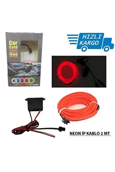 Universal Araba Araç Içi Torpido Ledi Ip Neon Ip Led El Wire 2 Metre Kırmızı