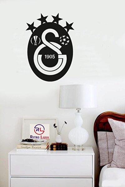 RetroLazer Galatasaray Logo Tablo Duvar Dekoru Siyah Ahşap Lazer Mdf