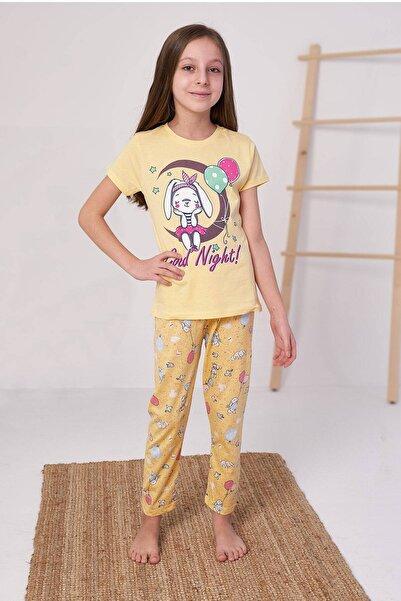 zepkids Kız Çocuk Good Night Baskılı Pijama Takım  4-12 Yaş