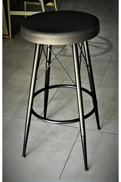 J&S QUALİTY Siyah Bar Taburesi 75 cm