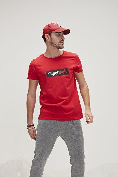 Bad Bear Kırmızı Erkek Tişört SUPERBAD TEE CRIMSONRED