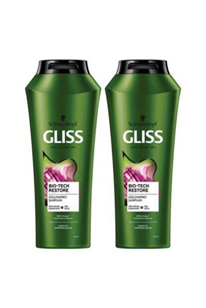Gliss Şampuan 500ml Biotech+500ml Şampuan
