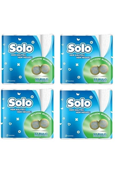 Solo Tuvalet Kağıdı 32 Rulo Akıllı Seçim 4 Adet
