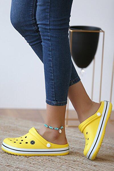 Pembe Potin Unisex Sarı Sandalet