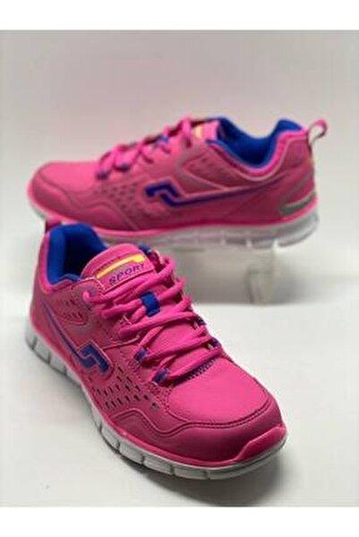 Unisex Pembe Spor Ayakkabı