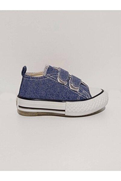 Vicco Unicex Işıklı Bebe Keten Ayakkabı Kot Mavi