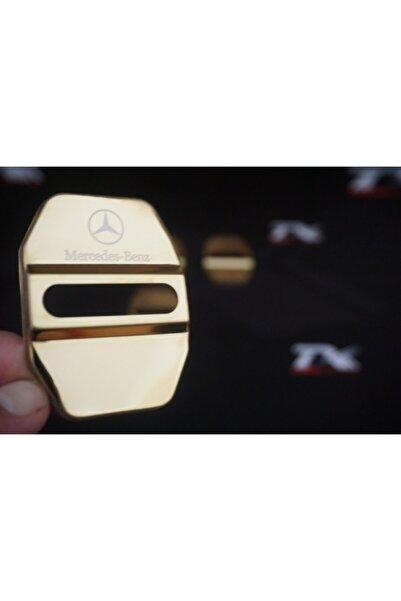 MERCEDES Benz Krom Metal 3m Kapı Kilidi Logo 4 Lü Set
