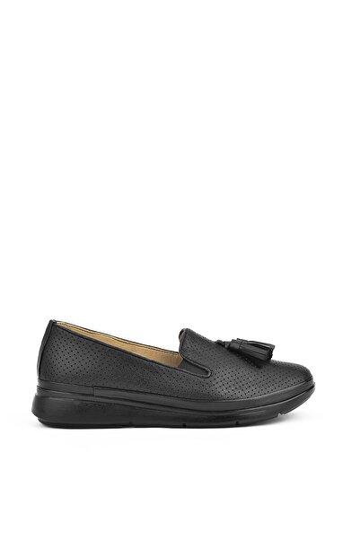 Ziya , Kadın Hakiki Deri Ayakkabı 111415 Z315002 Sıyah