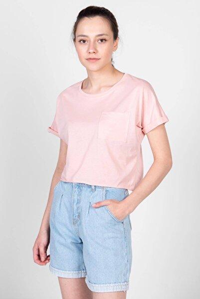 Addax Cep Detaylı Kısa T-shirt P6163 - I6