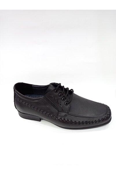 Modesa 151 Siyah Hakiki Deri Ortopedik Poli Taban Günlük Erkek Ayakkabı